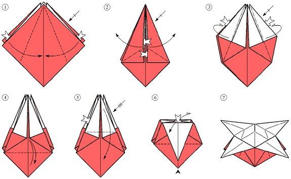 Схемы поделки из бумаги