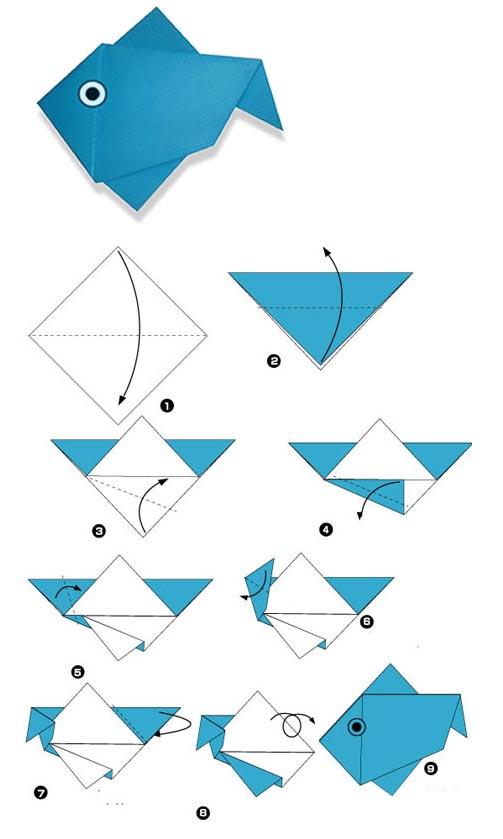Как сделать рыбку из бумаги своими руками