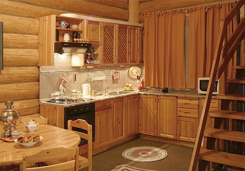 Как сделать фартук на кухне в бревенчатом доме