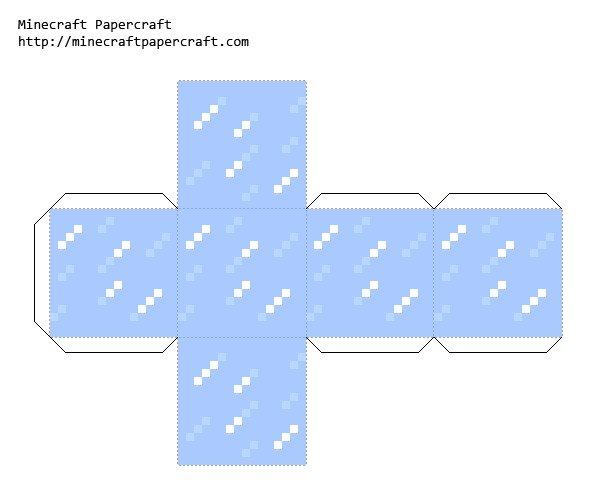 Бумажный майнкрафт схемы - лед