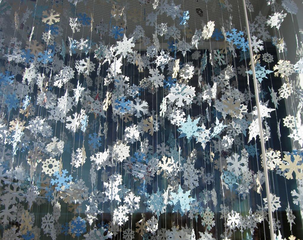 Гирлянды снежинки на новый год своими руками