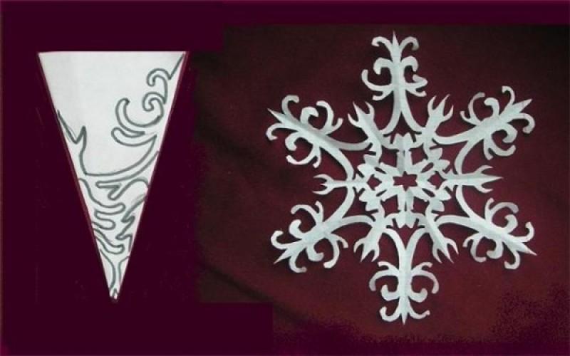 Как сделать из бумаги снежинку