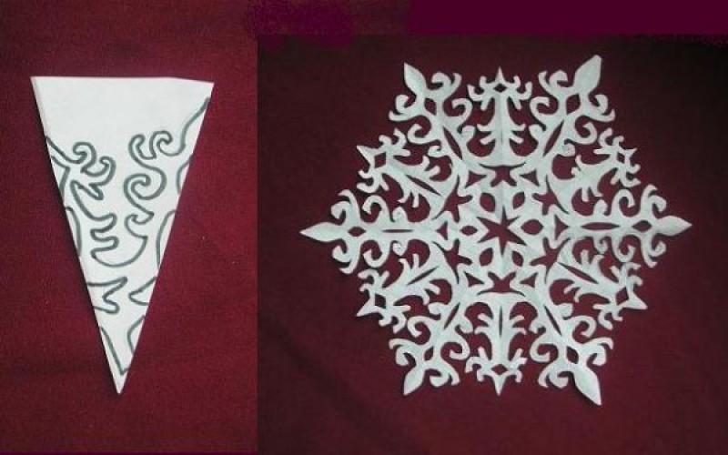 Снежинки своими руками из бумаги новые фото