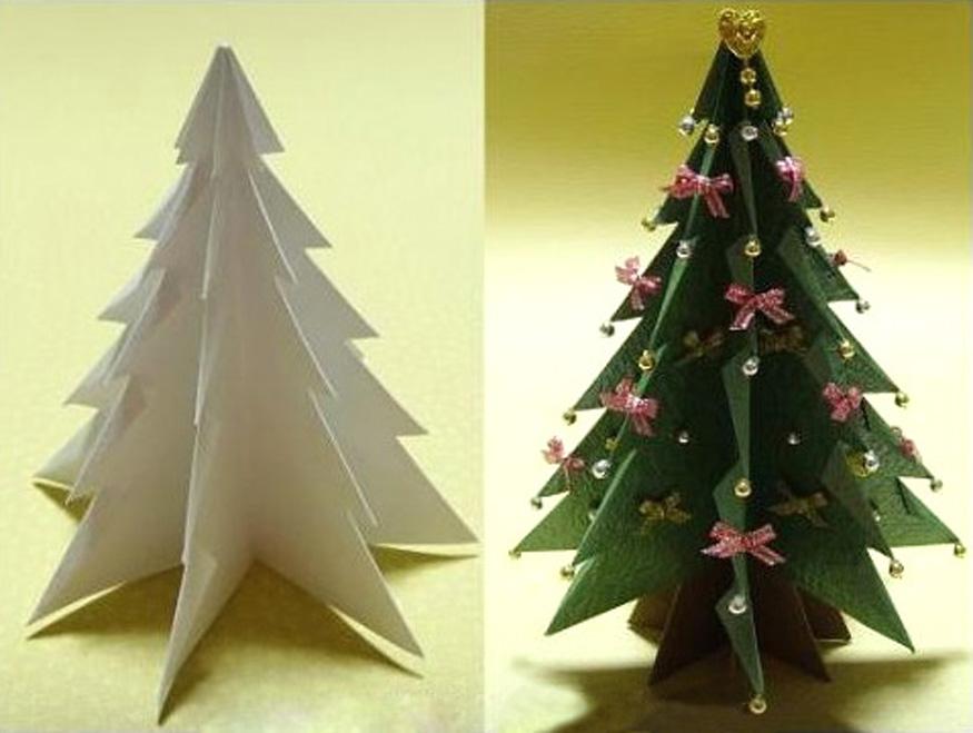 Как сделать елки из бумаги