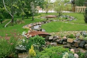 Ландшафтный дизайн дачного участка загородного дома своими руками фото