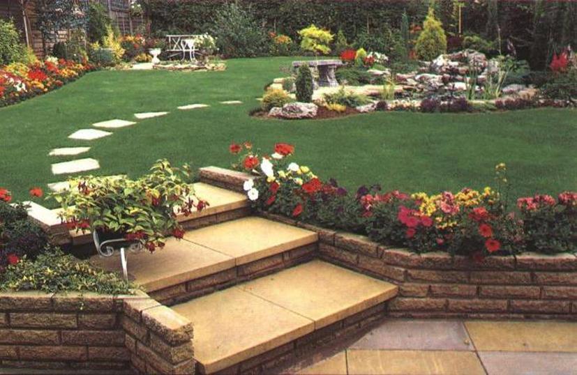 Ландшафтный дизайн дачного участка загородного дома фото