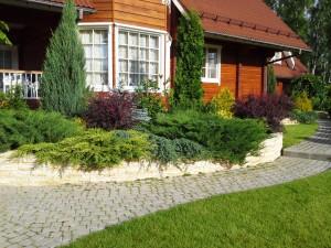 Ландшафтный дизайн дачного участка загородного дома