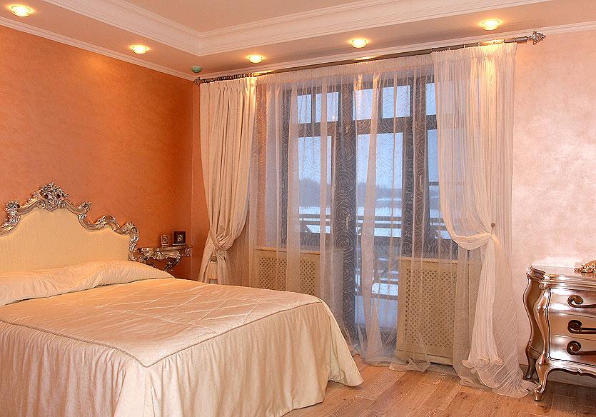 Легкие шторы для спальни