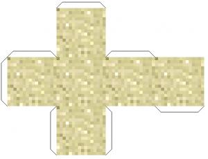 Картинки майнкрафт из бумаги - песок
