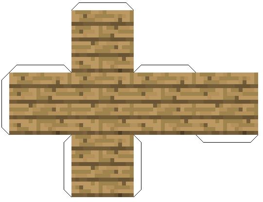Майнкрафт из бумаги - доски блок