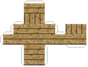Майнкрафт из бумаги схемы блоков - деревянная лестница
