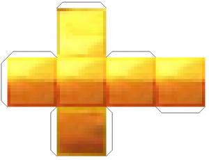 Майнкрафт из бумаги схемы видео - блок золота