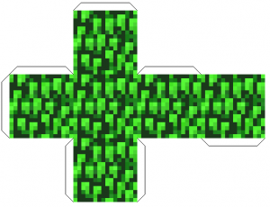 Майнкрафт из бумаги схемы - листва