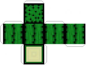 Майнкрафт настольная игра из бумаги - кактус