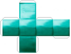 Майнкрафт поделки из бумаги - алмазный блок