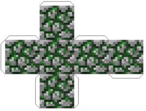 Майнкрафт фигурки из бумаги схемы - замшелый камень