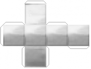 Мини майнкрафт из бумаги - железный блок