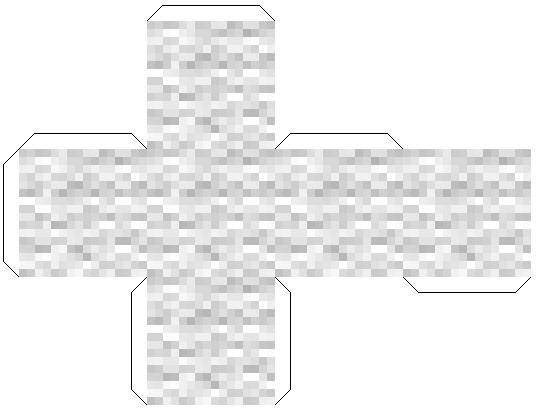 Распечатки майнкрафт из бумаги - белая шерсть