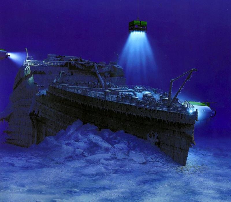 затонувший корабль титаник фото крохотный зверек