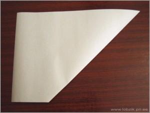Оригами снежинка из бумаги