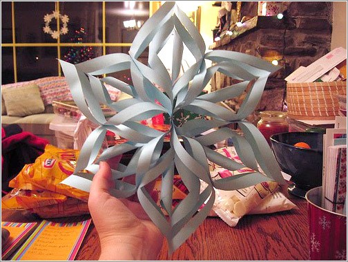 Как сделать снежинку оригами из бумаги своими