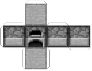 Minecraft из бумаги схемы - печка