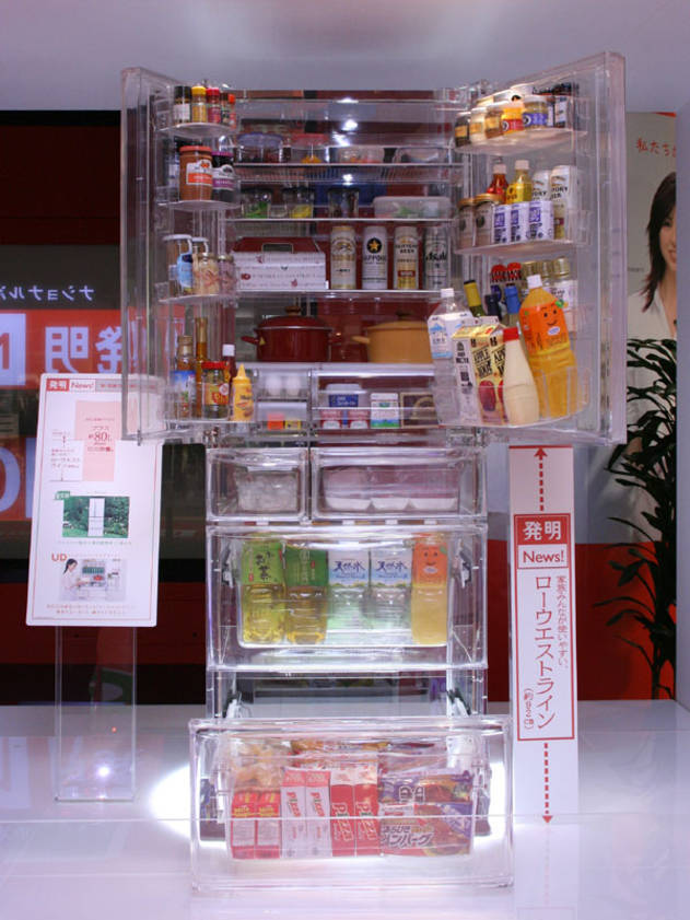 Прозрачный холодильник