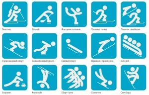Зимние виды спорта список